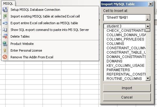 Excel MS SQL Server Import, Export & Convert Software