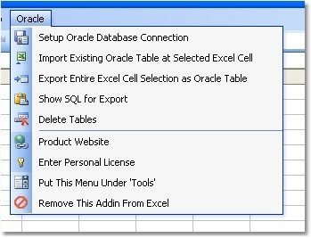 Excel Oracle Import, Export & Convert Software