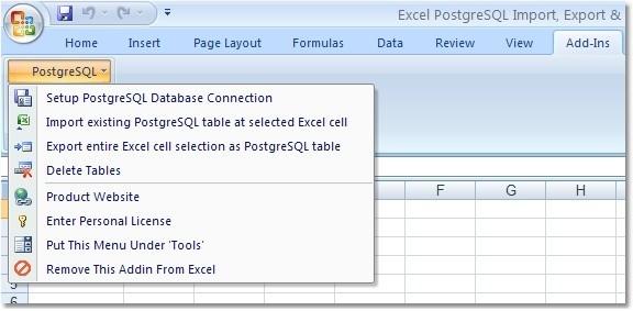 Excel PostgreSQL Import, Export & Convert Software