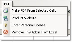 Excel Export Selected Cells To PDF Software