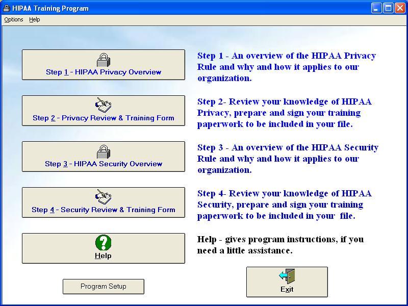 HIPAA Training Program