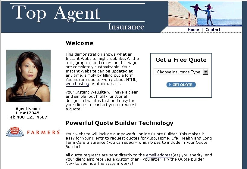 Insurance Agency Website Builder
