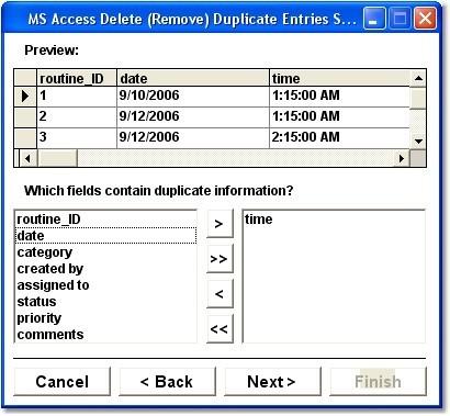MS Access Delete (Remove) Duplicate Entries Software