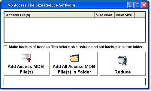 MS Access File Size Reduce Software