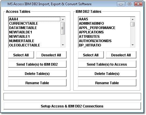 MS Access IBM DB2 Import, Export & Convert Software