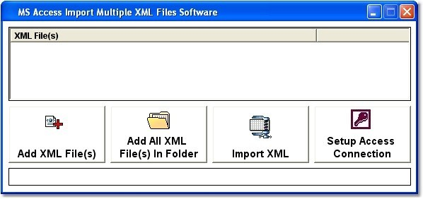 MS Access Import Multiple XML Files Software