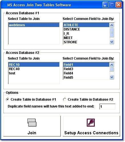 MS Access Join Two Tables Software
