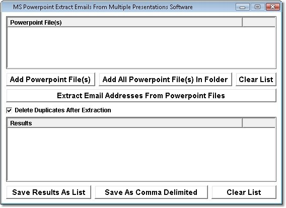 MS Powerpoint Extract Emails From Multiple Presentations Software