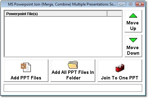 MS Powerpoint Join (Merge, Combine) Multiple Presentations Software