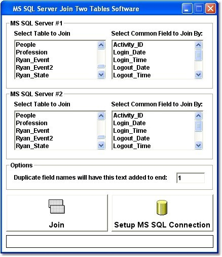 MS SQL Server Join Two Tables Software