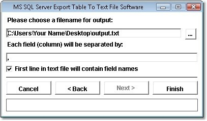 MS SQL Server Export Table To Text File Software