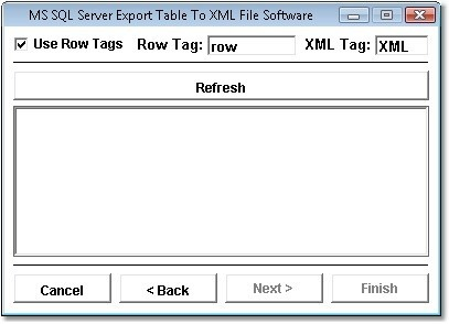 MS SQL Server Export Table To XML File Software
