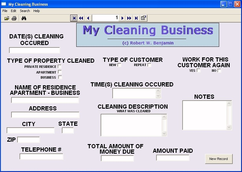 My Cleaning Business