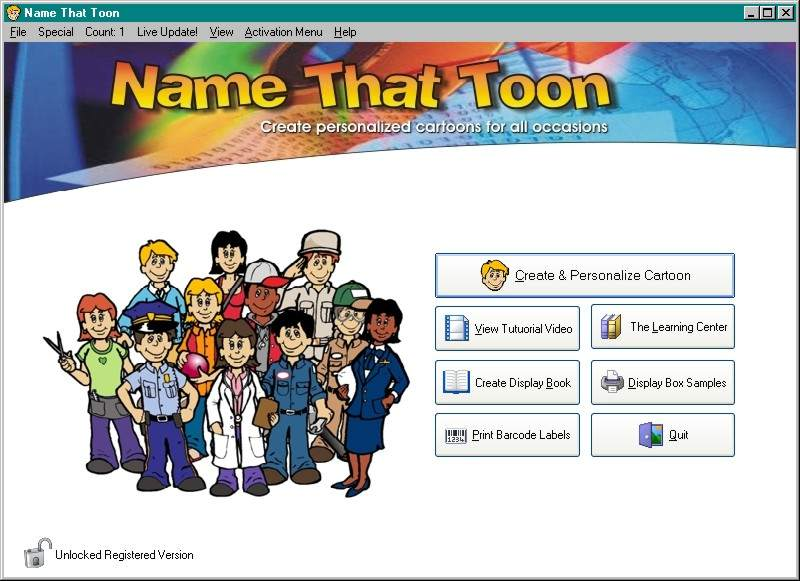 Name-That-Toon Personalized Cartoons