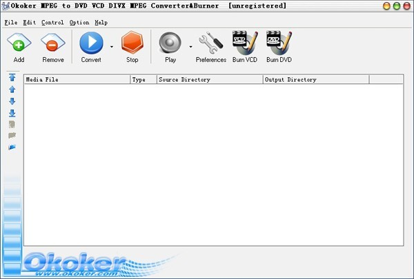 Okoker MPEG to AVI DVD VCD WMV Converter