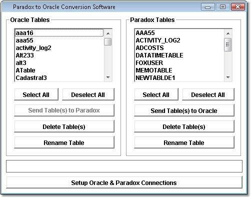 Paradox to Oracle Conversion Software