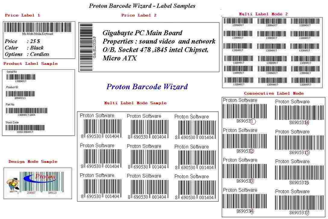 Proton Barcode Wizard