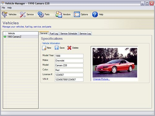 Vehicle Manager Fleet Network Edition