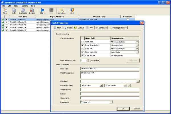 Advanced Email2RSS Professional