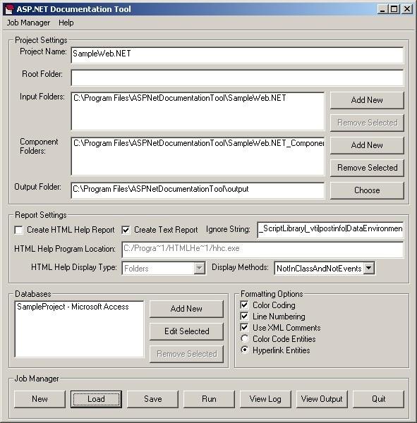 ASP.NET Documentation Tool