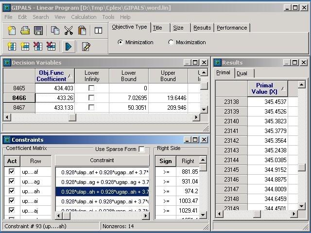 GIPALS32 - Linear Programming Library