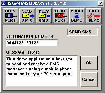 HS GSM SMS C Source Library