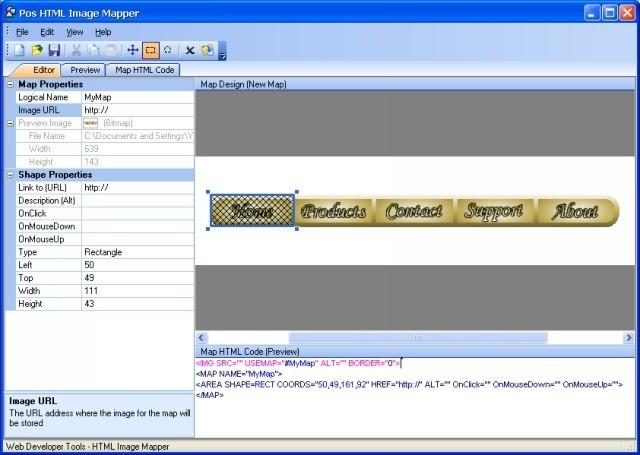 Pos HTML Image Mapper