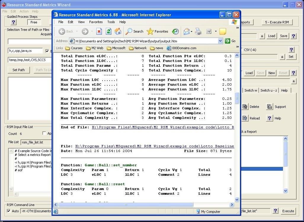 Resource Standard Metrics C C++ C# Java