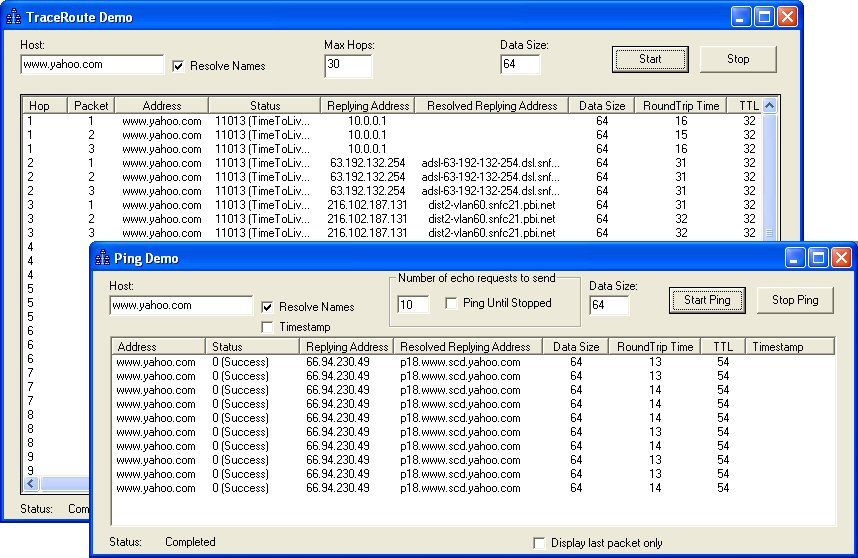 SkICMP ActiveX Control