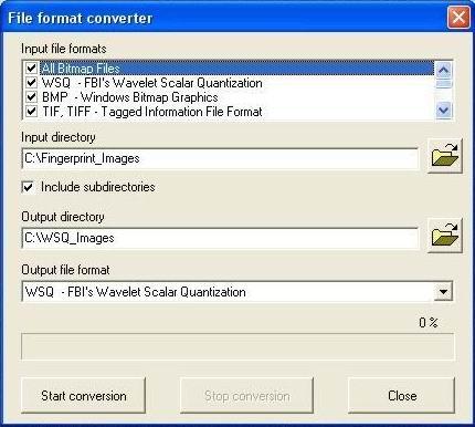 WSQ image library (for fingerprints)