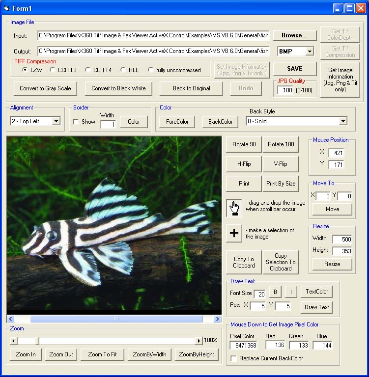 X360 Tiff Image Processing ActiveX OCX