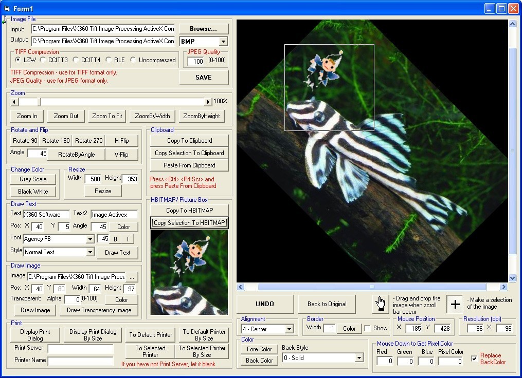 x360soft - Image Processing ActiveX OCX