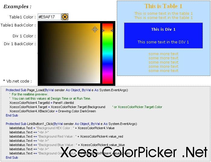 Xcess Color Picker .Net