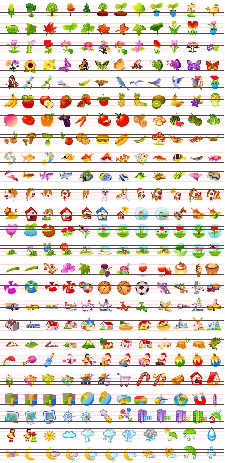 Animal and Foliage Icons