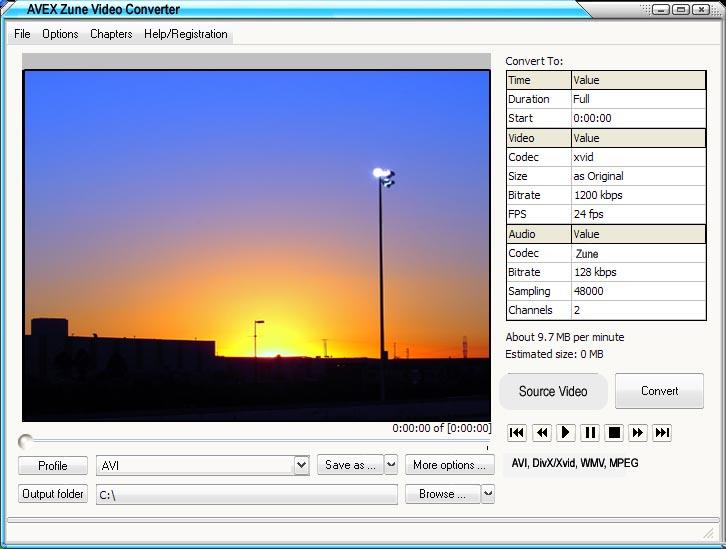 A VX CONVERT 2 Zune Video