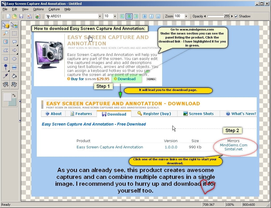 Easy Screen Capture And Annotation