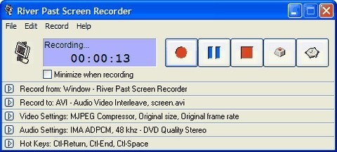 River Past Screen Recorder