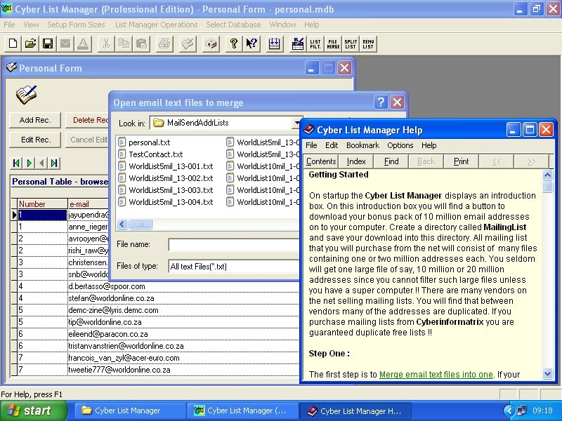 Cyber List Manager