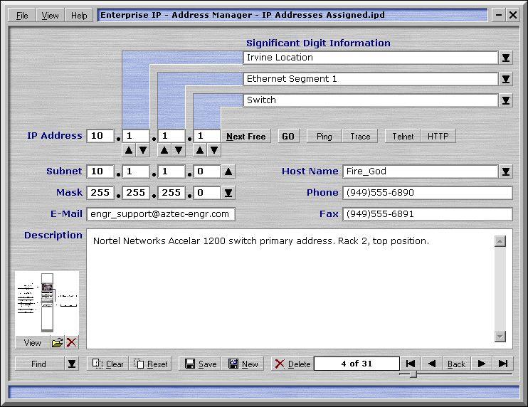 Enterprise IP - Address Manager