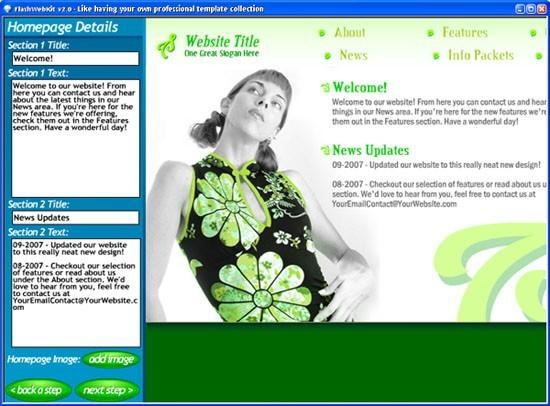 FlashWebKit Flash Website Builder