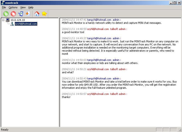 MSN Track Monitor