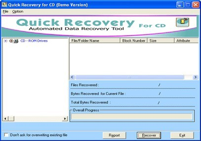 A Data Recovery Software - QR for CD