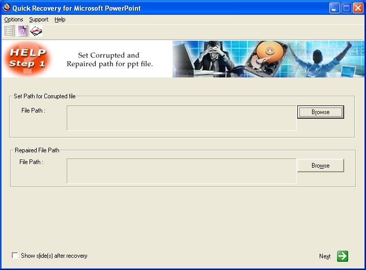 A Data Recovery Software- QR for MS PowerPoint