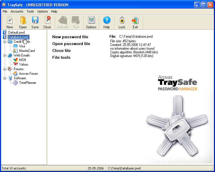 Arovax TraySafe Password Manager Personal