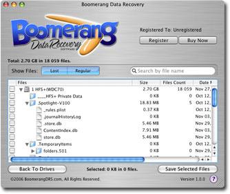 Boomerang Data Recovery MAC OSX