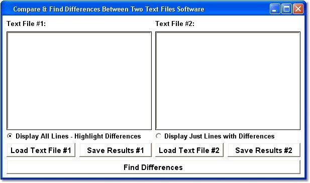 Compare & Find Differences Between Two Text Files Software