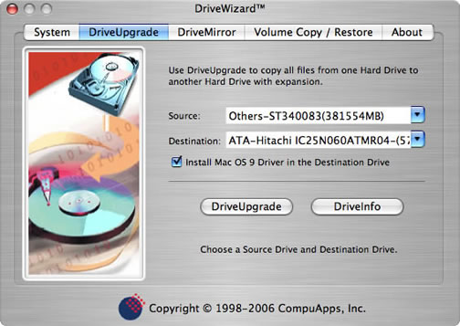 CompuApps DriveWizard V1 For Mac OS X