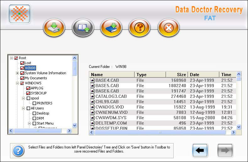 Windows XP Vista file Recovery tool