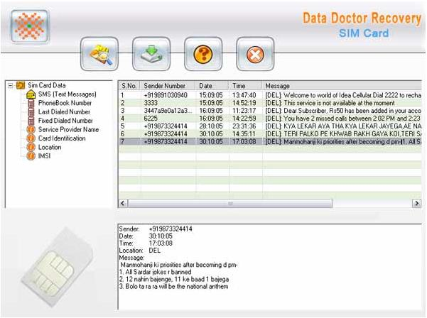 Sim Card Forensic Data Restoration Tool