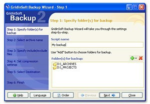 GridinSoft Backup